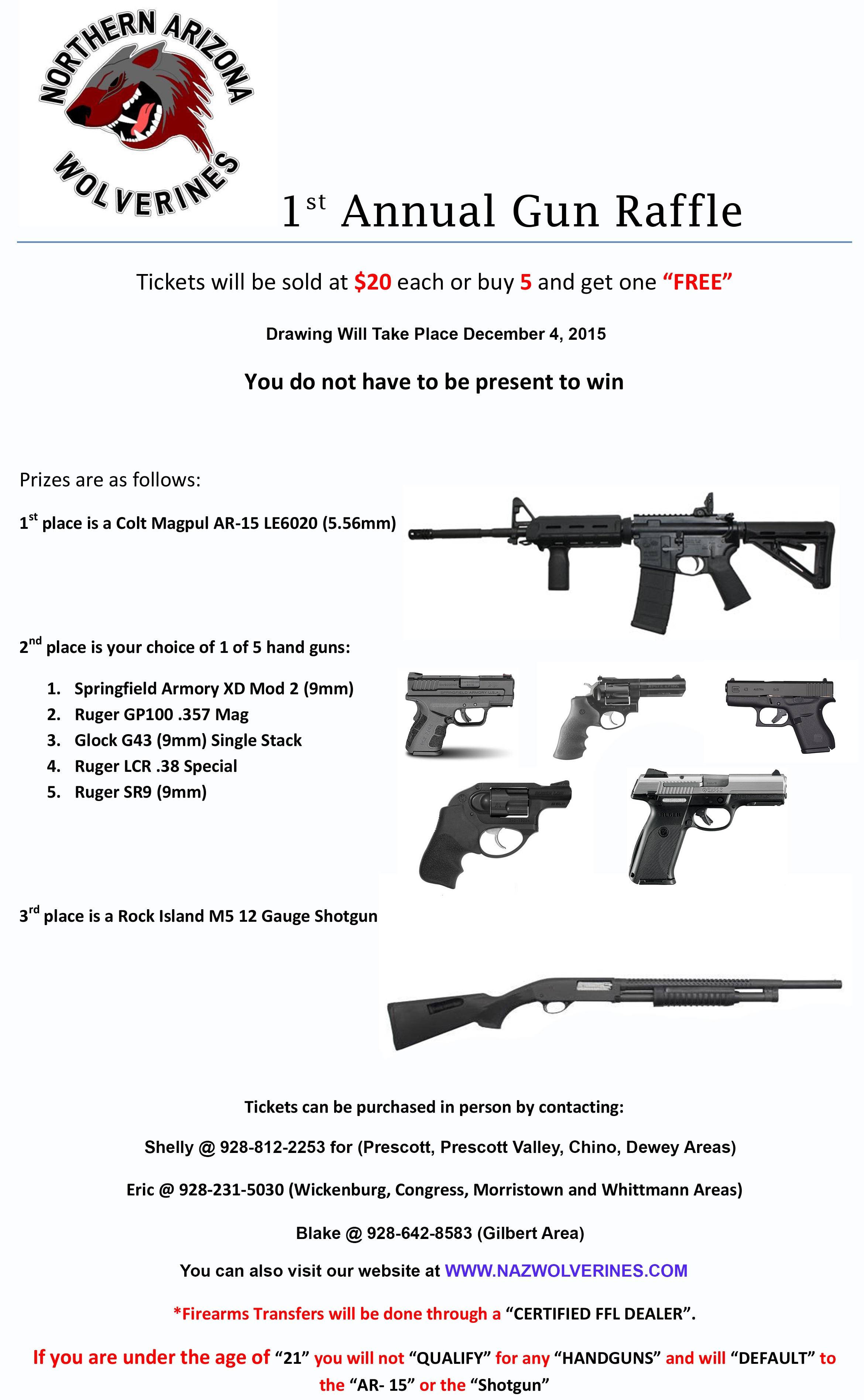 1st Annual Gun Raffle